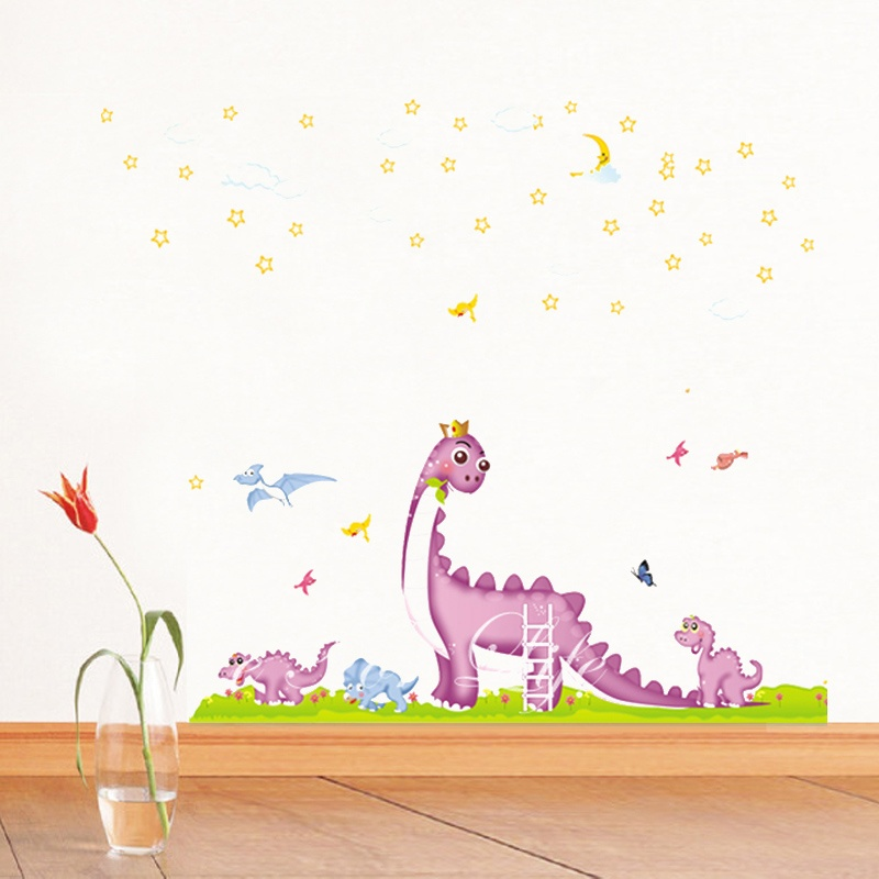 时尚家饰 墙壁装饰 亲子恐龙园墙贴 可移除墙壁装饰画 墙纸 客厅 卧室