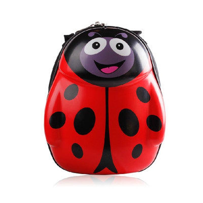 【儿童书包幼儿园男女可爱瓢虫硬蛋壳拉杆书包双肩包