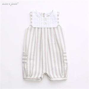 marcjanie马克珍妮 婴儿连体衣服 夏装新款男女宝宝纯棉爬服哈衣 可开裆 15016 支持货到付款