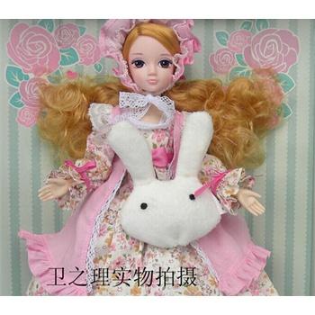 的卡娃娃人偶图片娃娃人偶可儿玩具娃娃6105中国芭比娃娃a的卡抱着毛绒玩具睡觉可儿通娃娃图片