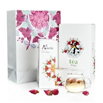 花茶礼盒包装设计图片