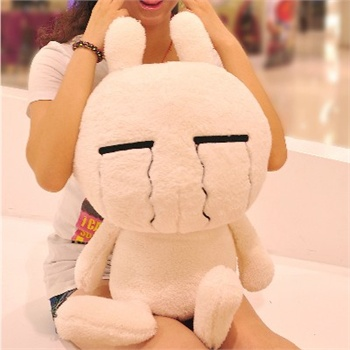 兔斯基 公仔 胖版 毛绒玩具 可爱布娃娃 超正点 70厘米_眯眼流泪