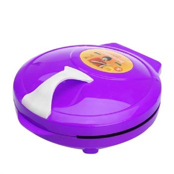 Soar/索爱 索爱电饼铛全自动双面悬浮式烙饼机锅档 煎烤机 可以180度平放紫色30cm