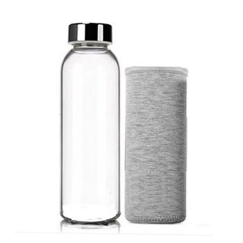 博若莱便携防漏创意水杯耐热玻璃杯带盖车载杯子矿泉