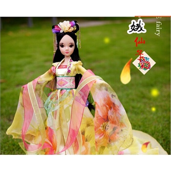可儿娃娃女孩玩具 芭比娃娃神话古装嫦娥仙子9026