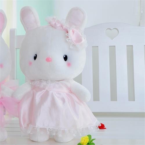 兔毛绒玩具兔子咪咪兔可爱新款生日礼物女可爱_小号25厘米粉色公主兔