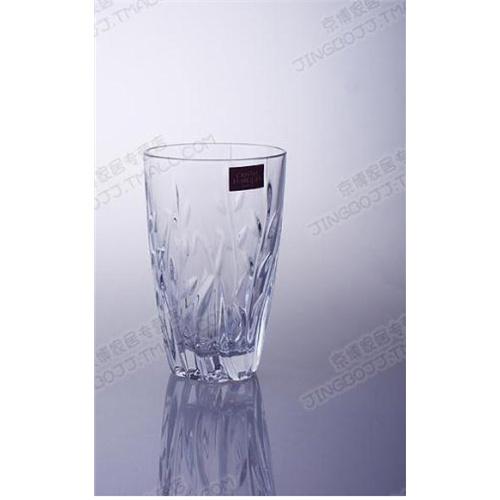 法国进口 cda水晶创意 刻花玻璃杯 耐热透明花茶水杯