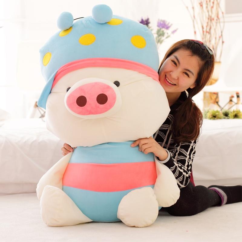 毛绒玩具麦兜猪公仔大号 萌可爱布娃娃猪猪儿童生日礼物女