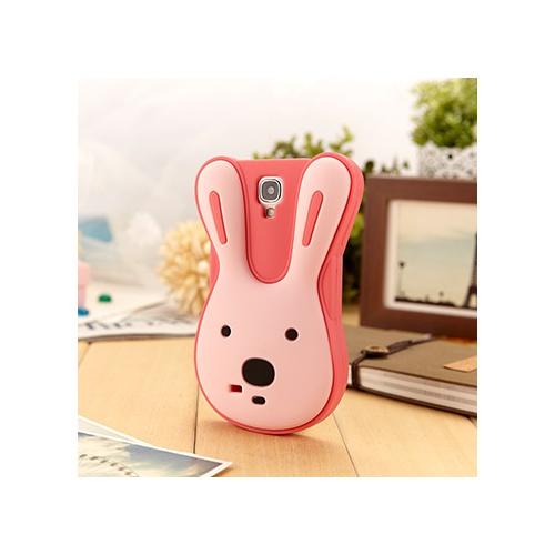 新款韩国立体砂糖兔 三星s4手机壳i9500可爱卡通保护壳 盖世4硅胶_玫