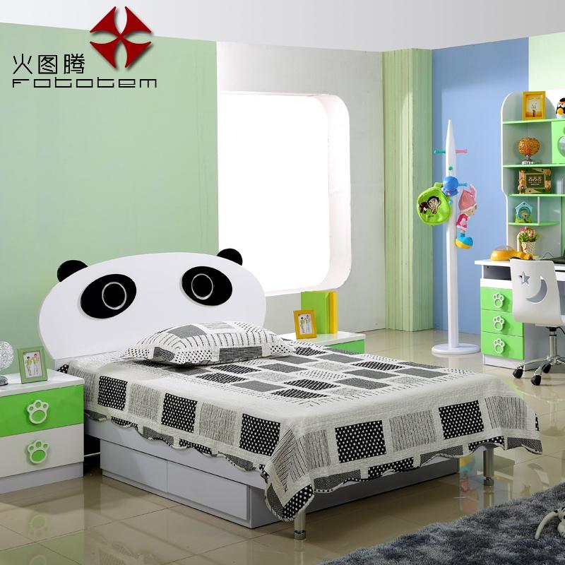 【火图腾儿童家具套房组合男孩儿童床