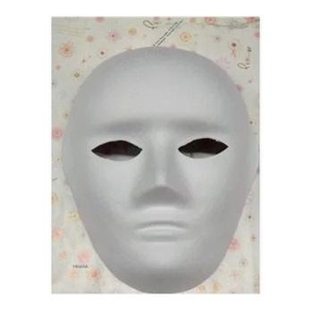 diy手绘 考拉面具 彩绘 纸脸谱男人脸 白色面具