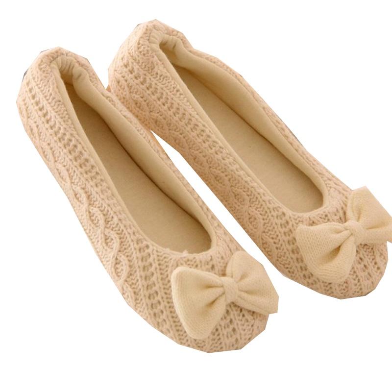 可爱蝴蝶结家居鞋