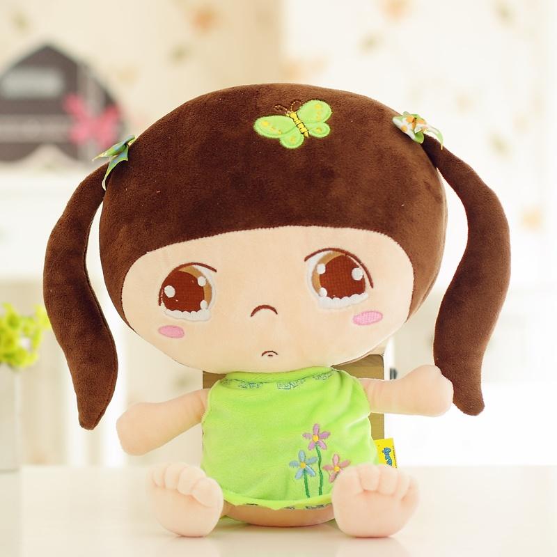 可爱 创意人物公仔邻家女孩布娃娃毛绒玩具抱枕玩偶女生生日礼物七夕