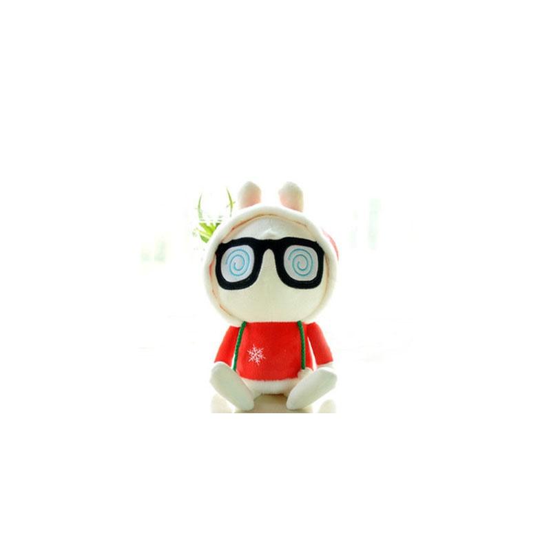 鑫诺 可爱兔斯基红衣兔子兔兔公仔布娃娃毛绒玩具送女生日礼物礼品_30