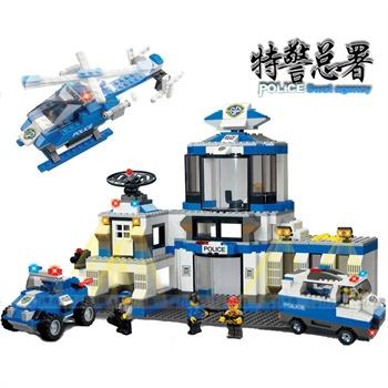 沃马积木拼装玩具乐高式城市city首都大飞机场