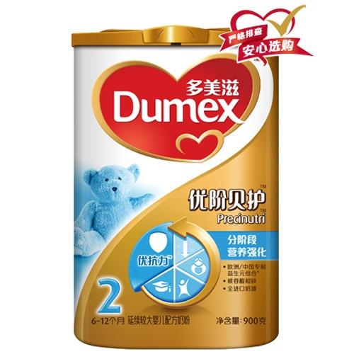 Dumex 多美滋 金装优阶贝护2段奶粉900g罐装 ¥129,400g盒装¥46,限地区