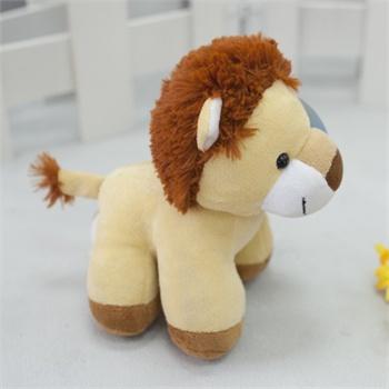 毛绒玩具狮子 撞色 儿童玩具象居家布偶可爱四脚狮子生日礼物