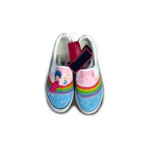 绘宝 非主流涂鸦鞋 创意手绘鞋 彩虹女孩 s-dw8477