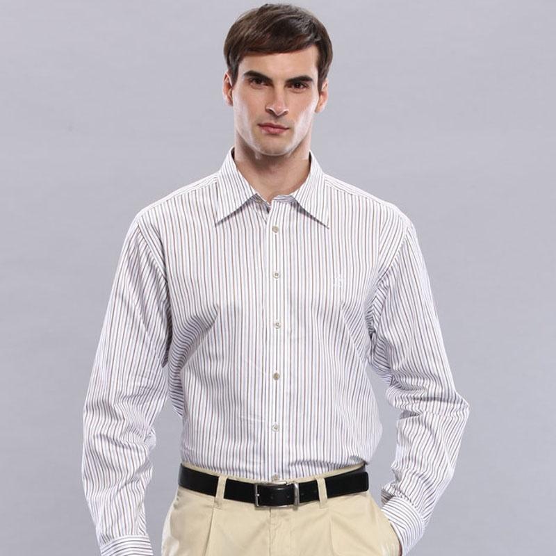圣大保罗 正品男装 长袖衬衫 商务休闲 纯棉 条纹绅士|ps9wh012_02,39