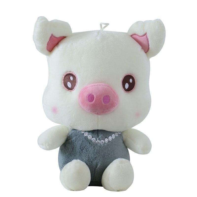 【保蒂卡毛绒公仔】可爱钻石项链猪小猪猪毛绒玩具送