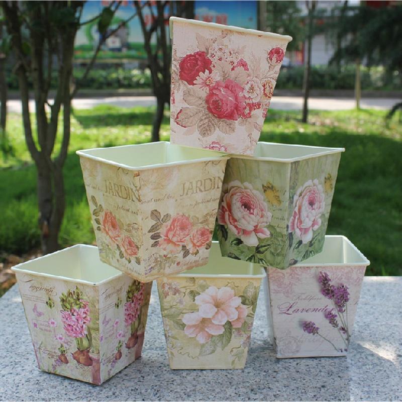 【德洛美摆饰/挂件】欧式风格花盆仿真花花器花瓶
