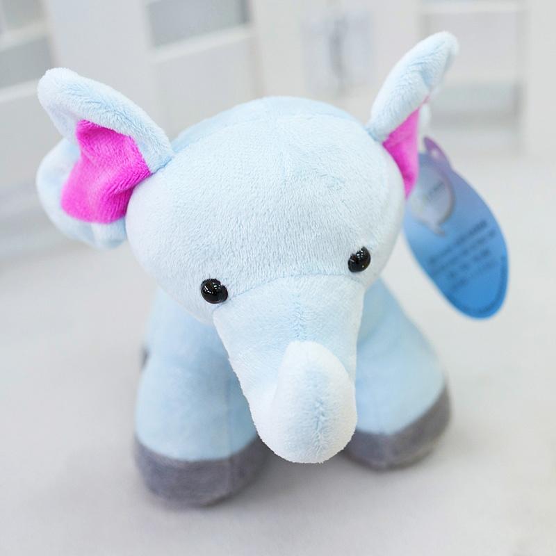 金洋创意毛绒玩具大象 撞色 儿童玩具象居家布偶 可爱四脚象生日礼物