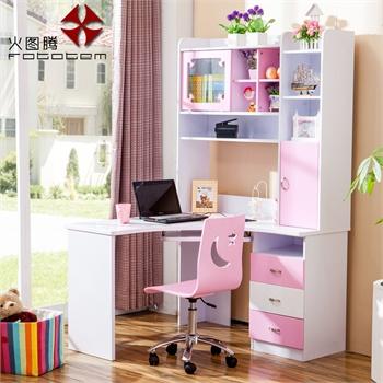 儿童家具儿童书桌卧室台式电脑桌直角书台