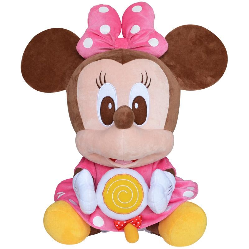迪士尼可爱公仔棒棒糖系列玩偶娃娃毛绒玩具生日礼物_1#米妮坐高37cm