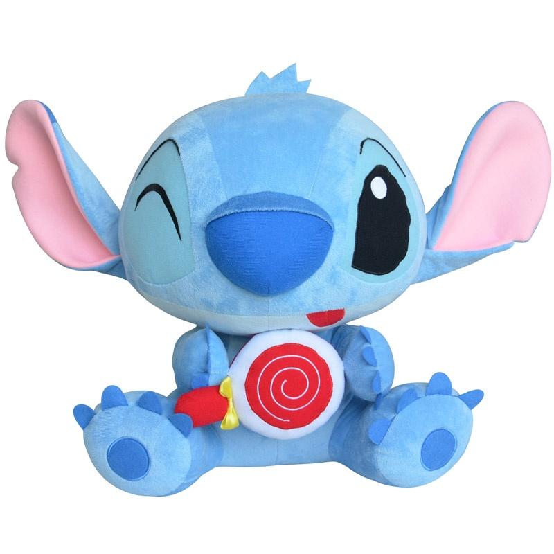 迪士尼可爱公仔棒棒糖系列玩偶娃娃毛绒玩具生日礼物_1#史迪仔坐高27