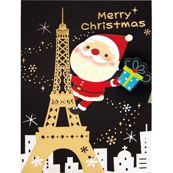 台湾四季 2013温馨圣诞节英文小贺卡 卡片批发 创意圣诞祝福礼物