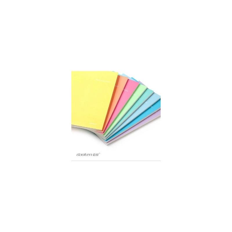 笔记本子清新可爱糖果色车线软面抄本彩虹糖22k-40页随机