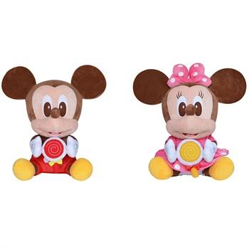 迪士尼可爱公仔棒棒糖系列玩偶娃娃毛绒玩具生日礼物_1#米妮米奇对装