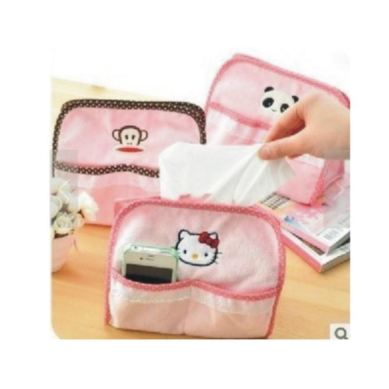 日照鑫 熊猫hello kitty大嘴猴轻松熊纸巾盒纸巾抽毛绒可爱纸巾套可车
