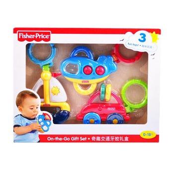 Fisher Price 费雪 奇趣交通新生儿礼盒 X2923 ¥79 可以叠加200-100    产品有较大涨幅,注意比价