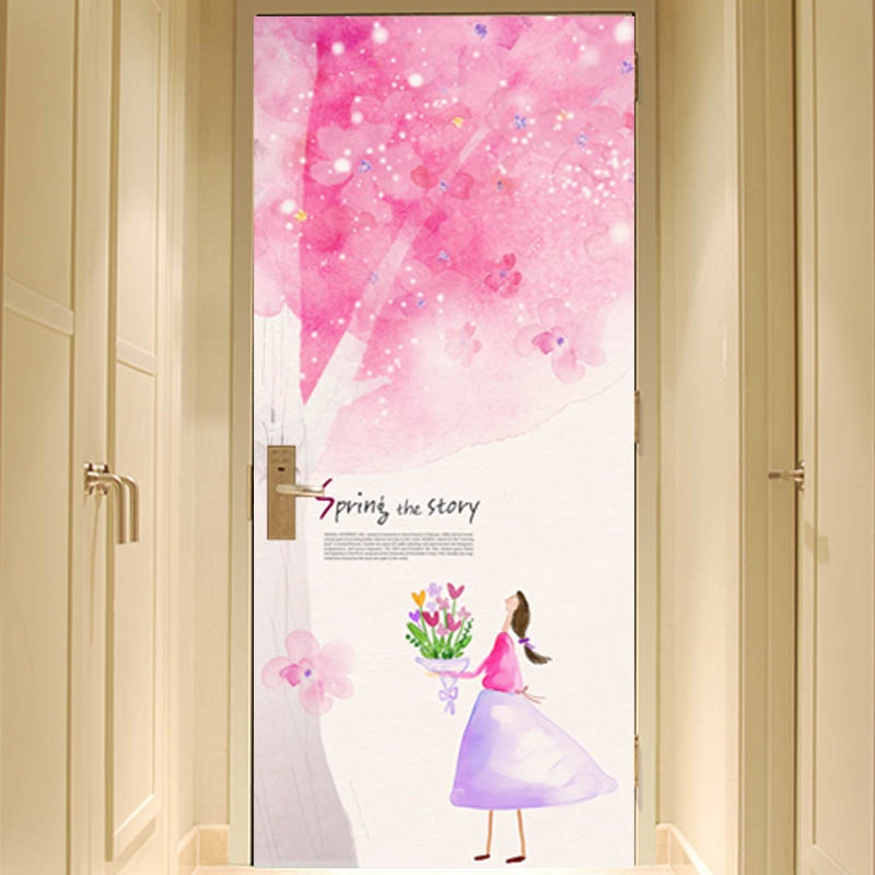 水彩手绘樱花树