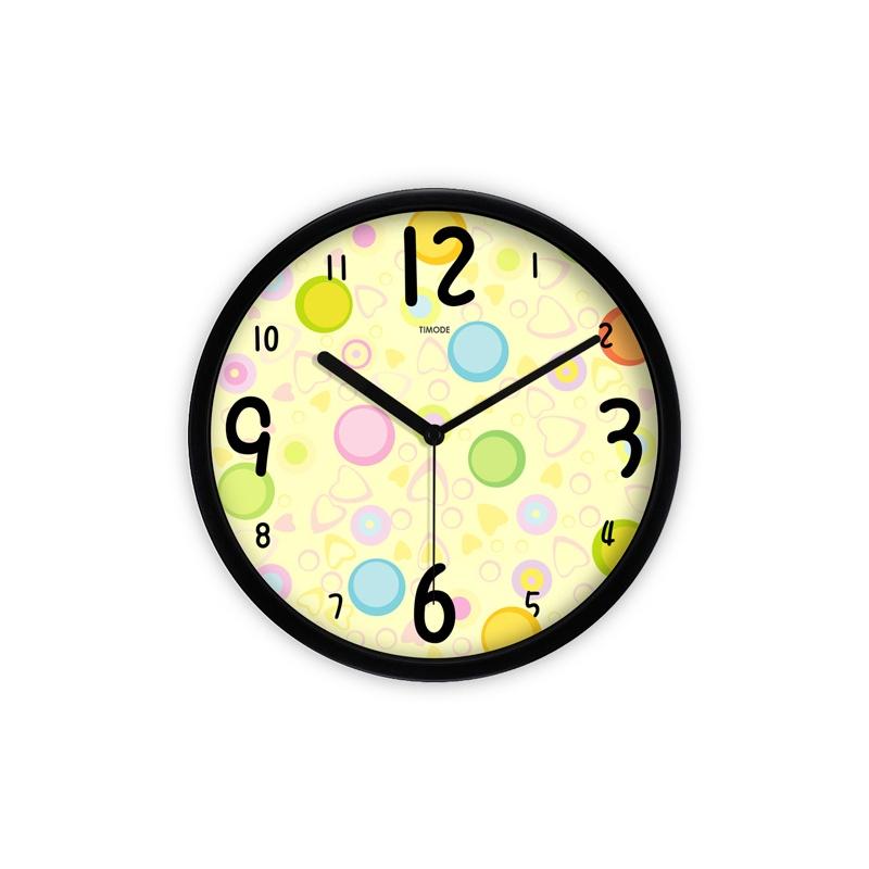 优时timode静音挂钟 可爱时尚简约 卡通艺术儿童石英钟表 gza0028