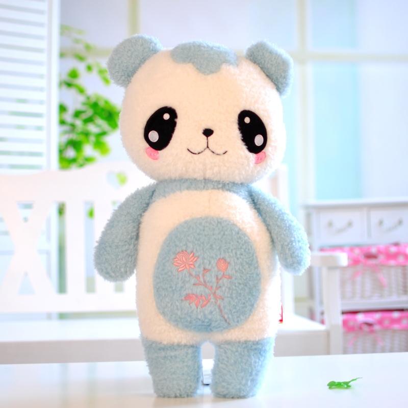 可爱创意卡通熊猫公仔 毛绒玩具熊猫布娃娃儿童抱枕大号 生日礼物春