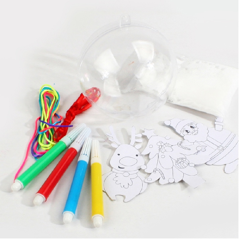 节手工材料包圣诞球挂饰儿童手工diy材料幼儿园装饰