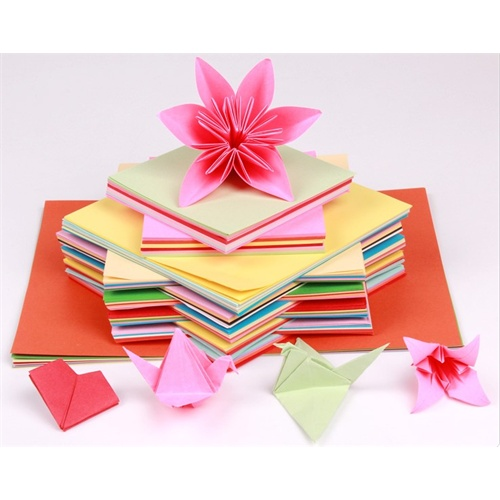 折纸 儿童剪纸 幼儿园折纸材料 彩色手工纸 千纸鹤 折纸 材料 剪纸 15