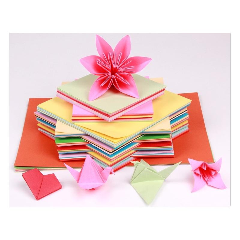 彩色手工纸 正方形千纸鹤折纸 折纸 儿童剪纸