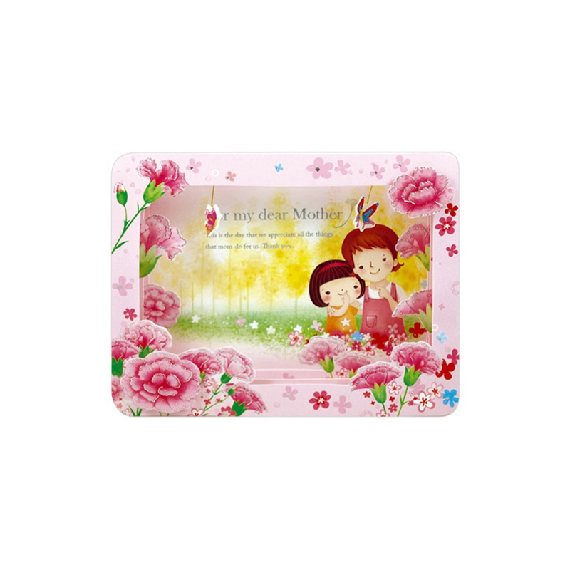 母亲节立体康乃馨贺卡卡片