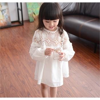 童装女童母婴连衣裙花朵蕾丝长袖儿童宝宝裙子公主裙