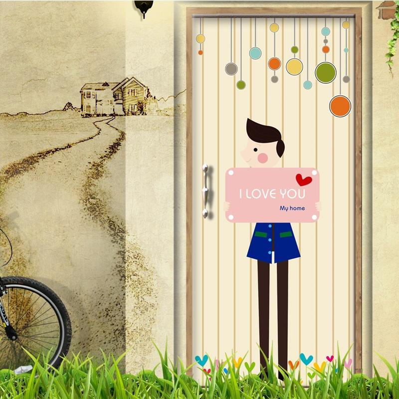 客厅卧室婚房浪漫卡通墙贴图片