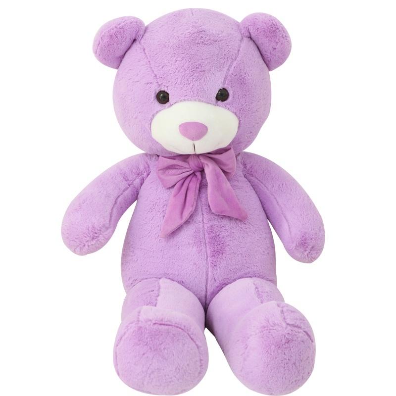爱满屋 可爱泰迪熊公仔 紫色抱抱熊 大抱熊 毛绒玩具 毛绒娃娃 生日