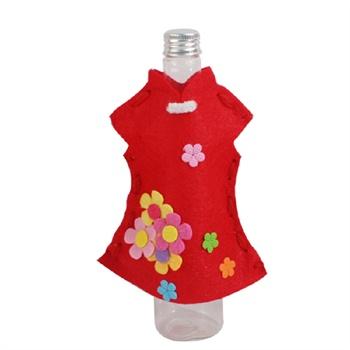 材料包春节新年手工衣服旗袍唐装漂流瓶制作儿童diy