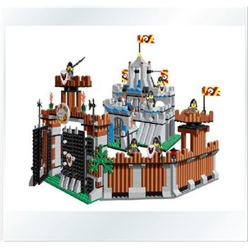 万格积木拼插玩具乐高式塑料拼装积木乐高小人海盗城堡