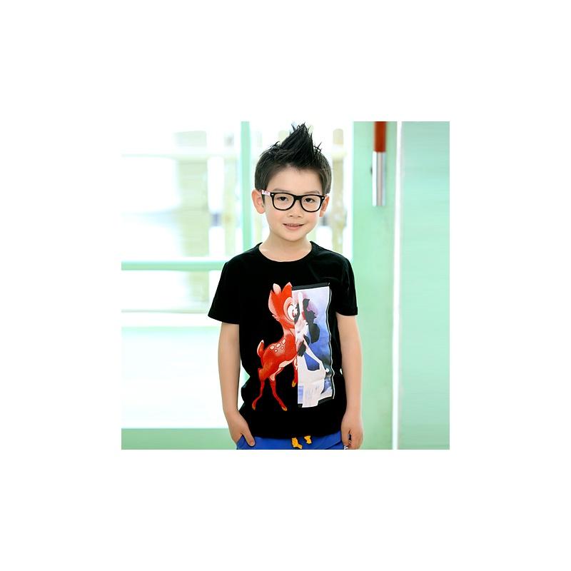 小板牙 2014夏装韩版新款童装卡通动物儿童宝宝男童短袖t恤潮7158