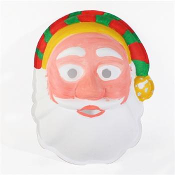 艺趣手工材料包圣诞节礼品圣诞老人纸浆面具儿童手工