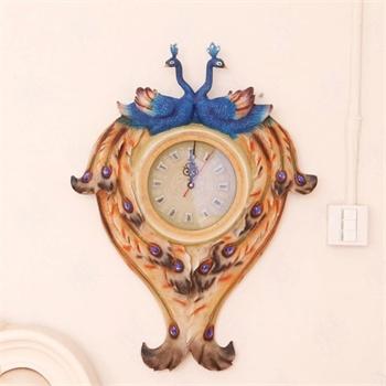阿西娜欧式古典壁挂孔雀灯饰客厅书房壁灯床头灯挂件手工彩绘艺术