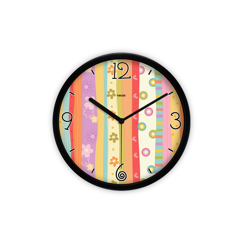 卡通田园艺术钟表 童趣花纹钟